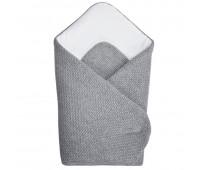 Бебешко плетено одеяло сиво