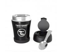 Контейнер за храна от неръждаема стомана Twistshake 6+ месеца черен