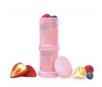 Контейнери за храна и сухо мляко Twistshake - 2 бр. по 100 мл розов