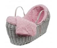 Плетено бебешко кошче с обиколник
