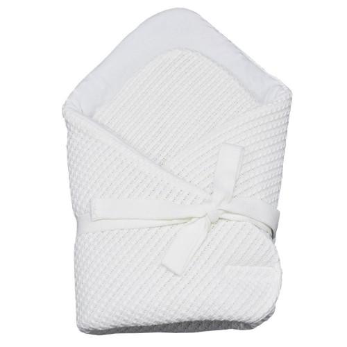Плетено одеяло за бебета екрю