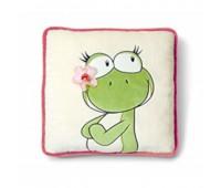 Плюшена възглавничка жабка