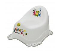 Музикално гърне за бебета Little Bears & friends бяло