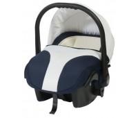Кошче за бебета за кола Baby Merc Style тъмно синьо с бяло