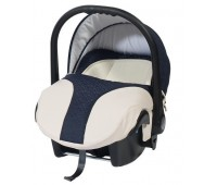 Кошче за бебета за кола Baby Merc Style морско синьо с кремаво