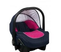 Бебешко кошче за кола 3-9 кг, Baby Merc Leo морско синьо и розово