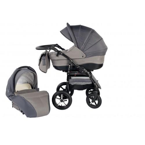 Детска количка Baby Merc 2 в 1 модел ZIPY сива