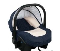 Бебешко кошче за кола 3-9 кг, Baby Merc Leo морско синьо и бежово