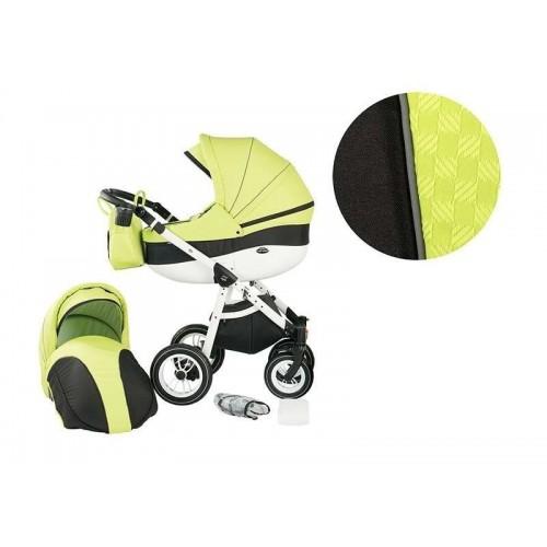 Детска комбинирана количка 2 в 1, модел Neo Style, Baby Merc зелено и черно