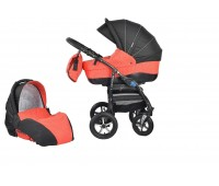 Детска количка Baby Merc 2 в 1 модел ZIPY черна с червено