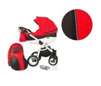 Детска комбинирана количка 2 в 1, модел Neo Style, Baby Merc червено и черно