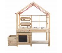 Детска дървена кухня за игра навън
