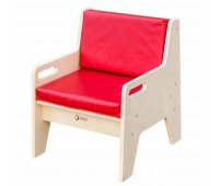 Тапицирано детско столче с облегалка