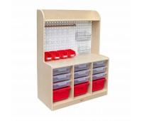 Шкафче за съхранение на детски играчки и инструменти
