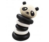 Дървена дрънкалка - панда