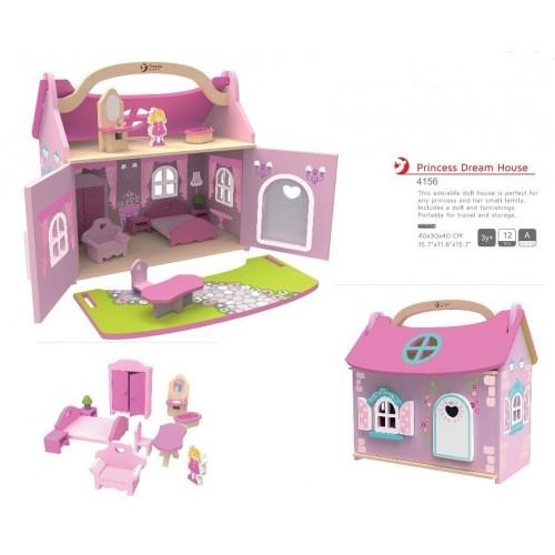Дървена къщичка за игра - Принцеси