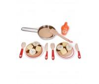 Детски дървен готварски комплект - палачинки