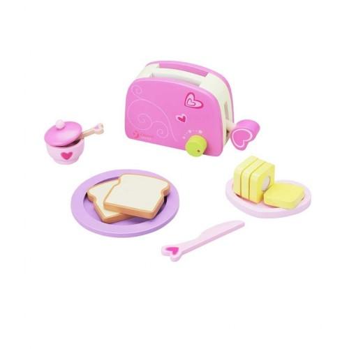 Детски дървен тостер за игра