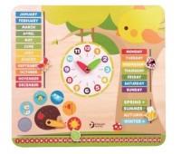 Детски образователен календар с часовник