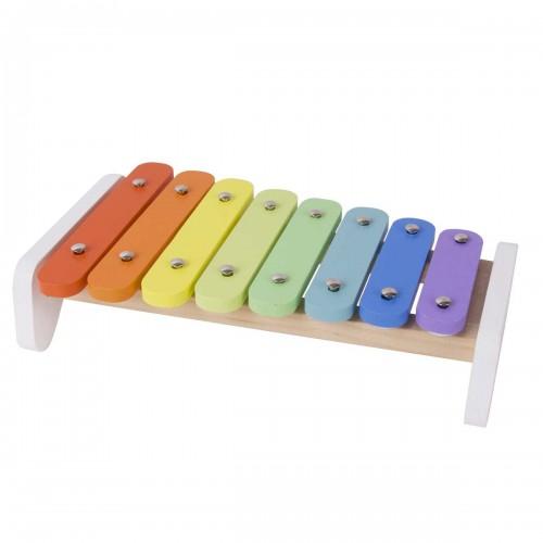 Многоцветен дървен ксилофон за деца