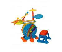 Музикален комплект - Барабани с пиано, столче и микрофон