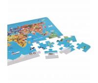 Детски дървен пъзел - карта на света