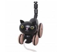 Детско коте - играчка за дърпане, черно