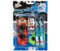 Комплект играчки за пръсти - Сноуборд и Ски, червено-син