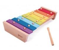 Дървен ксилофон с цветовете на дъгата
