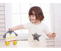 Детско дървено пингвинче за дърпане