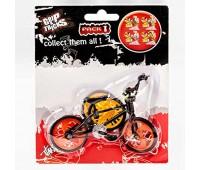 Играчка за пръсти - колело BMX - черно