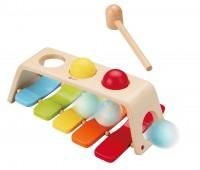 Дървена играчка - ксилофон с чукче