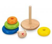 Дървени рингове за нареждане - играчка за бебета