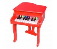 Детски дървен роял - червен