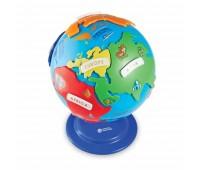 Детски пъзел - Глобус с континенти