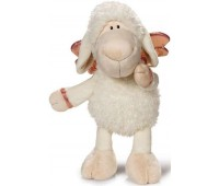 Плюшена играчка овцата Jolly - Don't worry be happy - Бяла 20 см