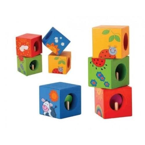 Дървени кубчета тип пъзел