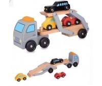 Детски автовоз с 3 колички