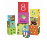 Картонени кубчета за редене - зеленчуци