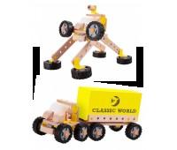 Дървен конструктор Камион - Робот