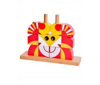 Дървен пъзел - кубчета Лъвче