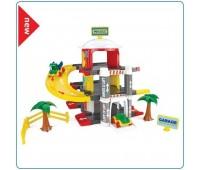 Детска играчка - Гараж на три нива с асансьор