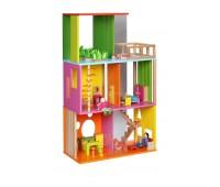 Модерна дървена къща за кукли