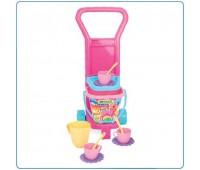 Детска играчка - комплект за пикник, розова