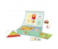 Детска играчка за пътуване с магнитни фигури - Хранителната пирамида