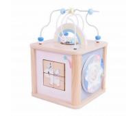Дидактически куб за деца - розов