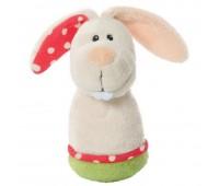 Плюшена бебешка дрънкалка - Зайче
