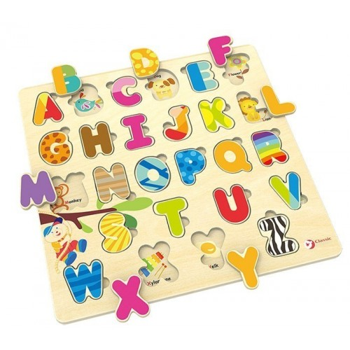 Дървен пъзел с английската азбука