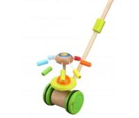 Дървена играчка за бутане Цвете