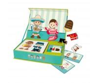 Детска играчка за пътуване с магнитни фигури - Хората по света